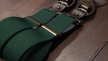 Solid Suspenders Stretch - Green