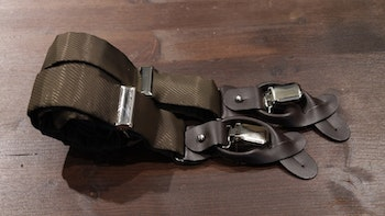 Solid Viscose Suspenders - Brown