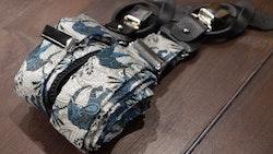 Elephant Viscose Suspenders - Blue