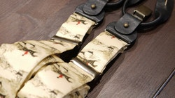 Horse Rider Viscose Suspenders - Beige/Brown