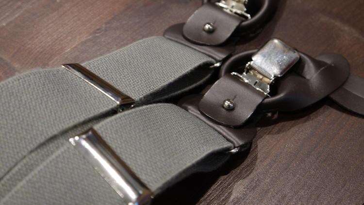 Solid Suspenders Stretch - Grey