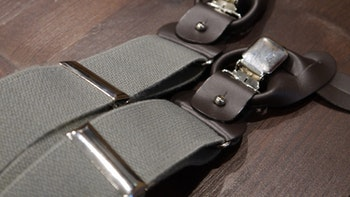 Solid Suspenders Stretch - Grey