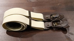 Solid Textured Suspenders Stretch - Beige