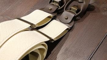 Solid Textured Suspenders Stretch - Beige