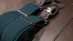 Solid Textured Suspenders Stretch - Green