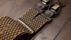Diamond Suspenders Stretch - Beige/Brown