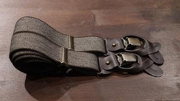 Herringbone Suspenders Stretch - Brown
