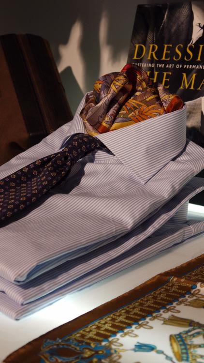 Bengal Stripe Twill - Light Blue/White