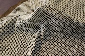 Polka Dot Seersucker Cotton/Silk Pocket Square - Brown
