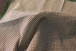 Polka Dot Seersucker Cotton/Silk Pocket Square - Green