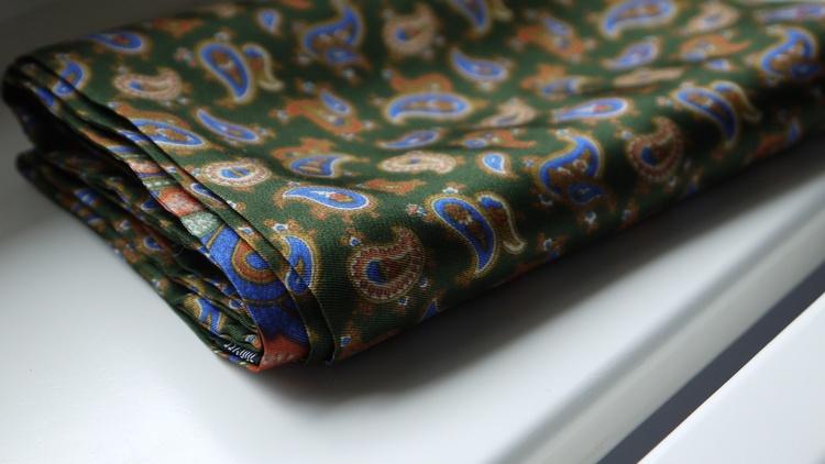Paisley Silk Scarf - Green