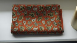 Paisley Silk Scarf - Orange