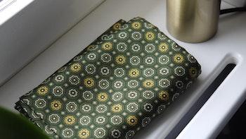 Medallion Silk Scarf - Green/Yellow