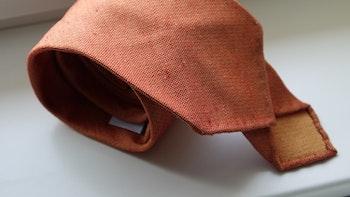 Solid Silk/Wool Donegal Tie - Untipped - Orange