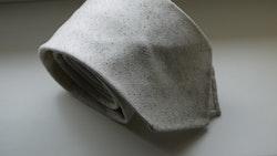 Solid Silk/Wool Donegal Tie - Untipped - Beige