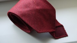 Solid Silk/Wool Donegal Tie - Untipped - Burgundy
