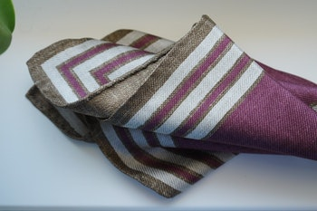 Square/Solid Silk Pocket Square - Double - Burgundy/Brown