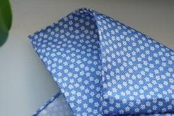 Floral Textured Silk Pocket Square - Light Blue/White