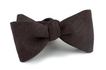 Solid Textured Bow Tie - Brown