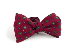 Floral Madder Silk Bow Tie - Burgundy/Green/Yellow