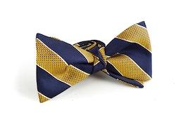 Regimental Silk Bow Tie - Navy Blue/Yellow