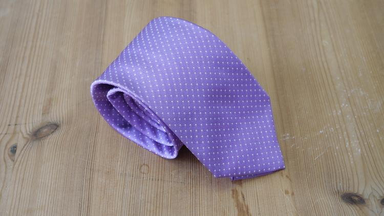 Silk Pindot - Purple/White
