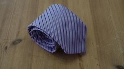 Silk Regimental  - Purple/Navy/White
