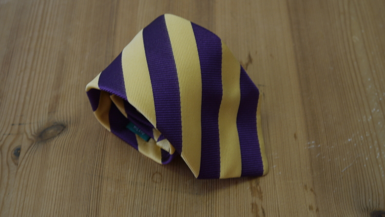 Silk Regimental  - Purple/Yellow