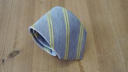 Silk/Linen Regimental  - Grey/Yellow