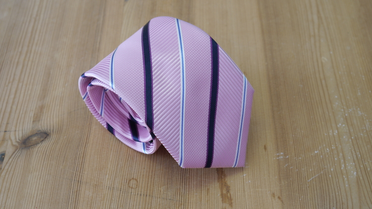 Silk Regimental  - Pink/Navy Blue/Light Blue