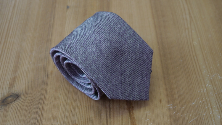 Silk Solid Herringbone  - Purple