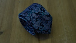 Silk Paisley  - Navy Blue/Pink/Turquoise