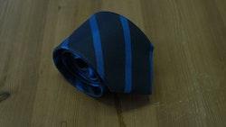 Silk Regimental  - Navy Blue/Turquoise