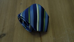 Silk Regimental  - Navy Blue/Green/Yellow/White