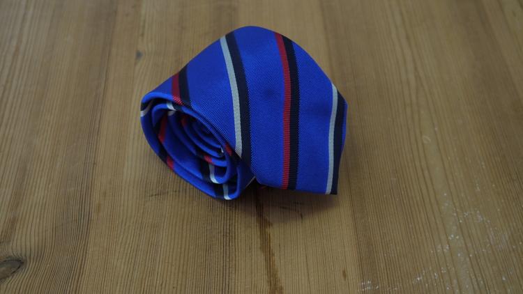 Silk Regimental - Mid Blue/Red/Navy Blue/White