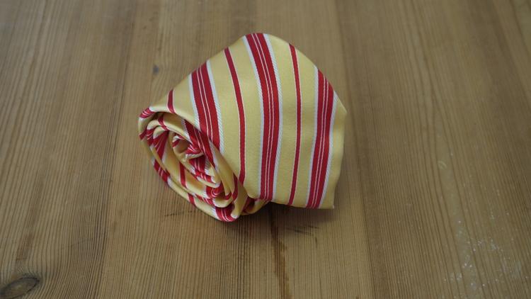 Silk Regimental - Yellow/Red/White
