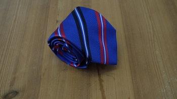 Silk Regimental - Mid Blue/Burgundy/Navy Blue/White