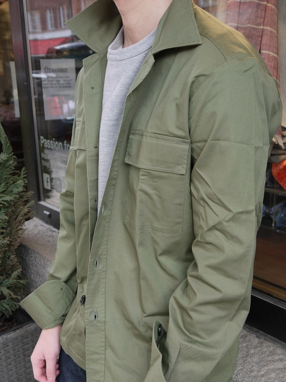 Overshirt Cotton - Olive Green