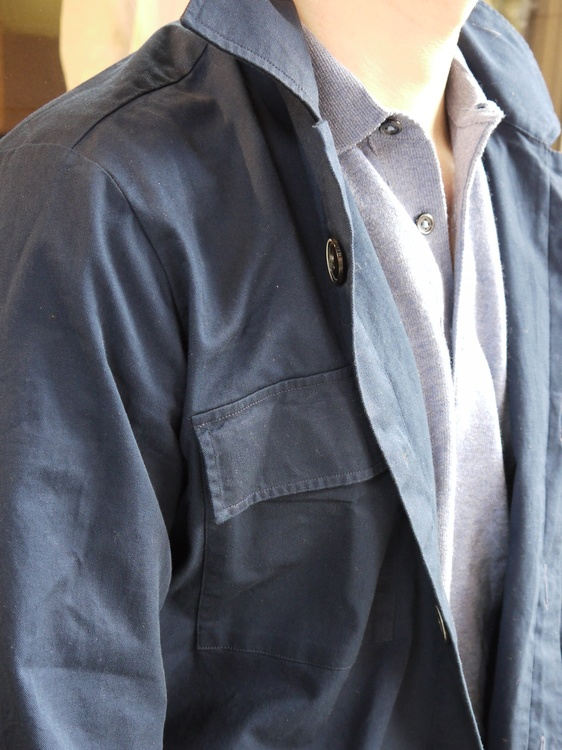 Overshirt Cotton - Navy Blue