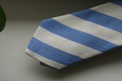 Regimental Shantung Tie - Light Blue/White