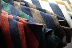 Regimental Shantung Tie - Brown/Navy Blue