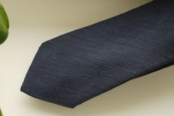 Solid Shantung Tie - Navy Blue