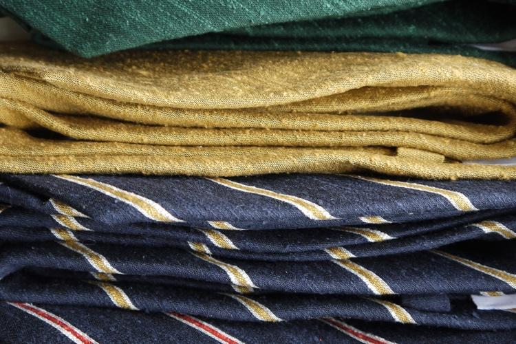 Solid Shantung Tie - Mustard Yellow