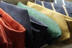 Solid Shantung Tie - Navy Blue