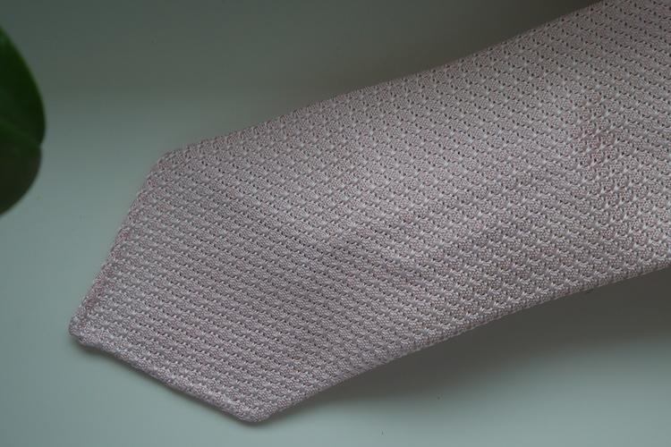 Solid Silk Grenadine Grossa Tie - Untipped - Pink