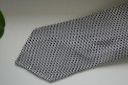 Solid Silk Grenadine Fina Tie - Untipped - Grey/White