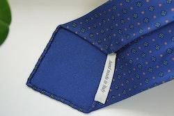 Floral Printed Silk Tie - Untipped - Mid Navy Blue/Pink