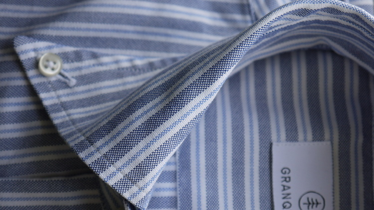 Striped Oxford Shirt - Button Down - Light Blue/White