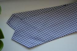 Dogtooth Silk Tie - Purple/White