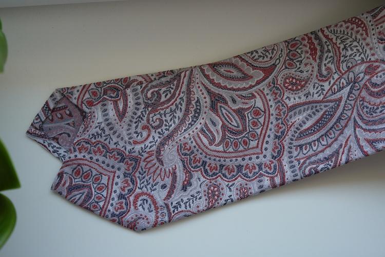 Paisley Silk Tie - Off White/Rust